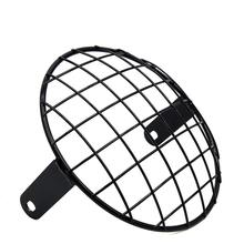 uxcell 7.8inch Black Metal Headlight Mesh Grill Motorcycle Headlamp Grid Cover for Harley
