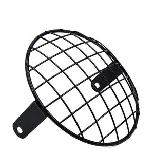 Image 1 - uxcell 7.8inch Black Metal Headlight Mesh Grill Motorcycle Headlamp Grid Cover for Harley