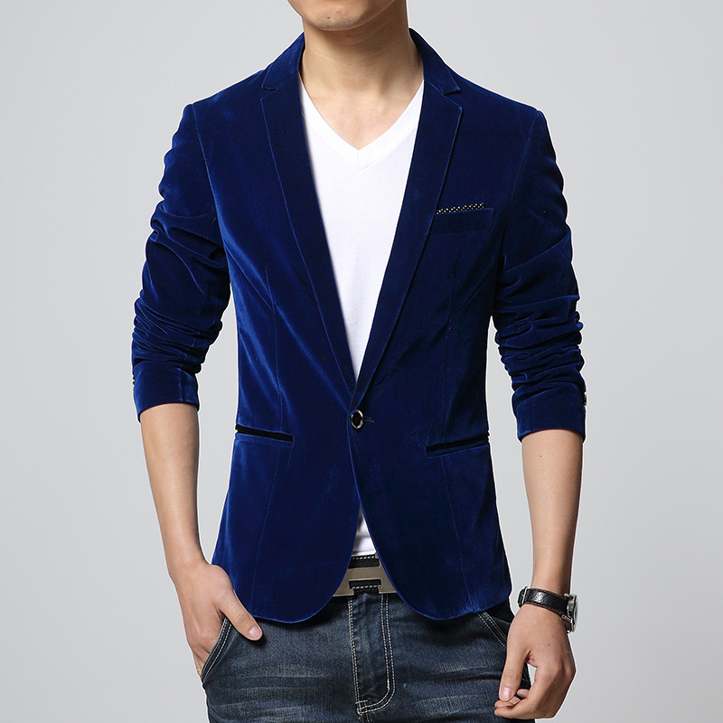 Costume Manteaux Hommes 2018 Nouvelle Marque sac kelly Seul Bouton Blazer Mâle Style Simple Solide Couleur Casaco Masculino Taille M 4XL