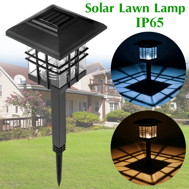 Solar Column Light For Garden Waterproof LED Solar Lamp Outdoor Landscape Courtyard Lights Household Fence Post Pillar Lamps