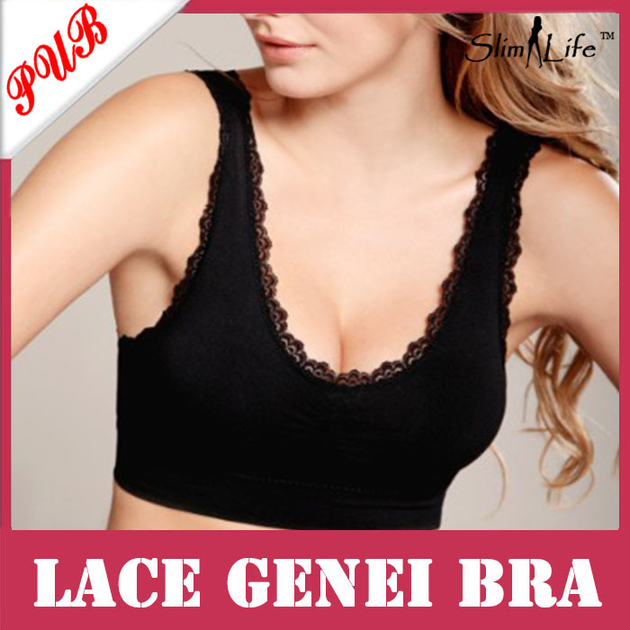159fda9bd As Seen On Tv New Products Seamless Lace Genie bra Slim Vest Sports Yoga Bra  With Pads 1500pcs Free shipping-in Bras from Underwear   Sleepwears on ...