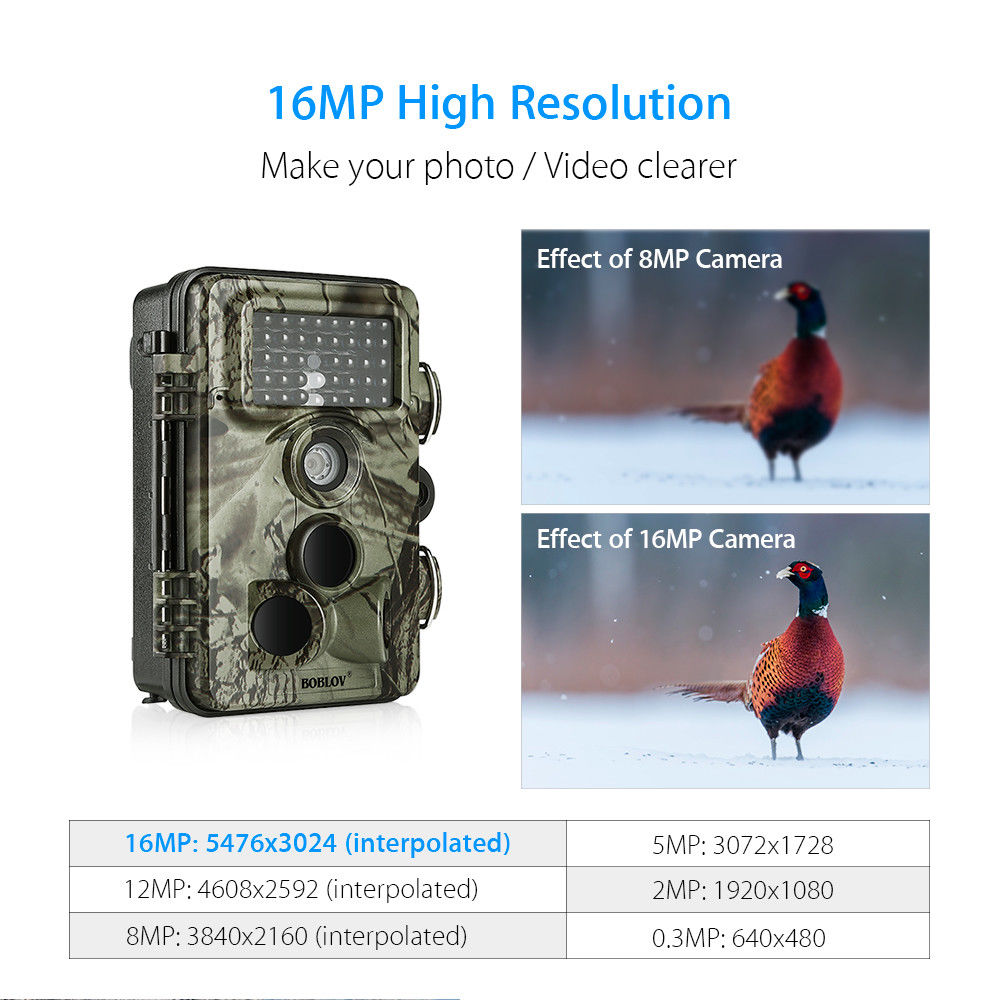 Image 5 - BOBLOV CT009 Hunting Camera 16MP Trail Camera Farm Security Wild Cameras IR Night Vision Photo Traps IP66 Cam Device For Hunting-in Hunting Cameras from Sports & Entertainment