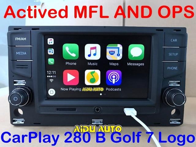 AIDUAUTO For VW Golf 7 MK7 VII Passat B8 MQB Tiguan Carplay 6 5 MIB Radio