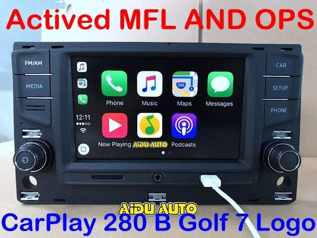 AIDUAUTO For VW Golf 7 MK7 VII Passat B8 MQB Tiguan Carplay 6.5  MIB Radio 5GD035280B 5GD 035 280 B