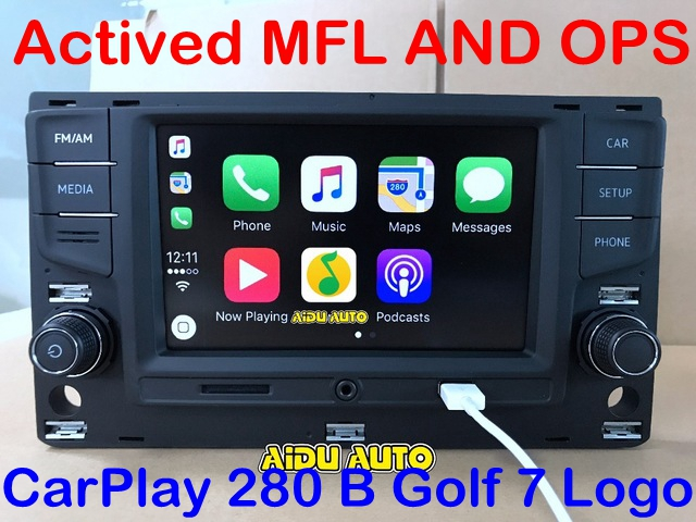 Aiduauto для VW Golf 7 MK7 VII Passat B8 MQB Tiguan Carplay 6,5 MIB радиоприемник 5GD035280B 5GD 035 280 B