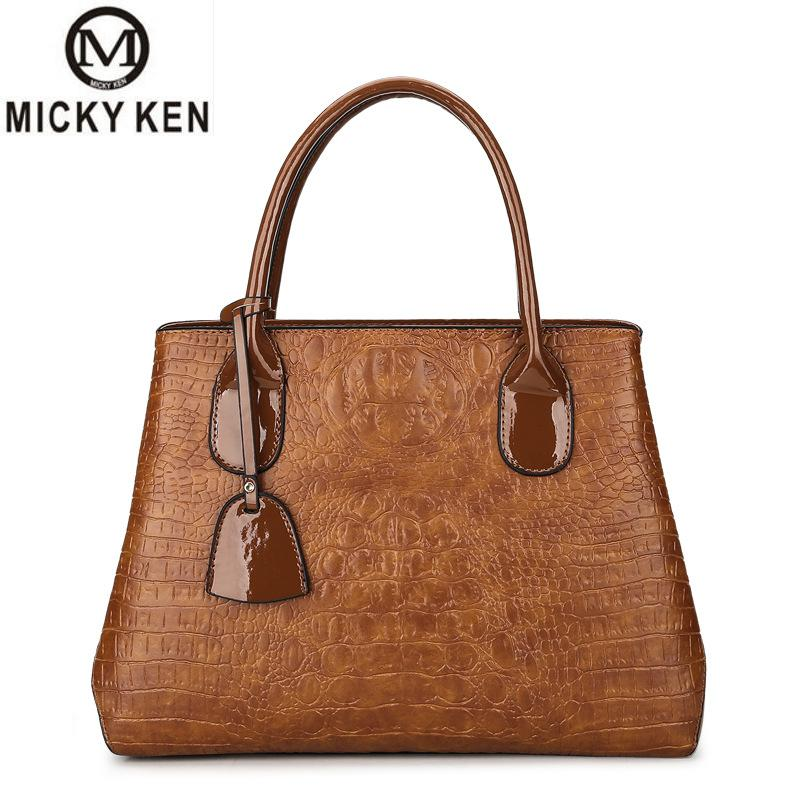 Women Bag Mother Bag Crocodile Pattern Pu Soft Leather Shoulder Bag 2018 New Trend Female High Quality Fashion Messenger Bag