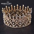 Gogeous grande Rodada de Cristal Cintilante Das Mulheres Tiaras Coroa de Noiva Jóias cabelo Hairwear Casamento Acessório de Cabelo Estilo Rainha Coroas