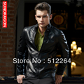 Free Shipping Wholesale And Retail Top Quality Men's Clothing, Pop Cultivate One's Morality Locomotive Leather Coat