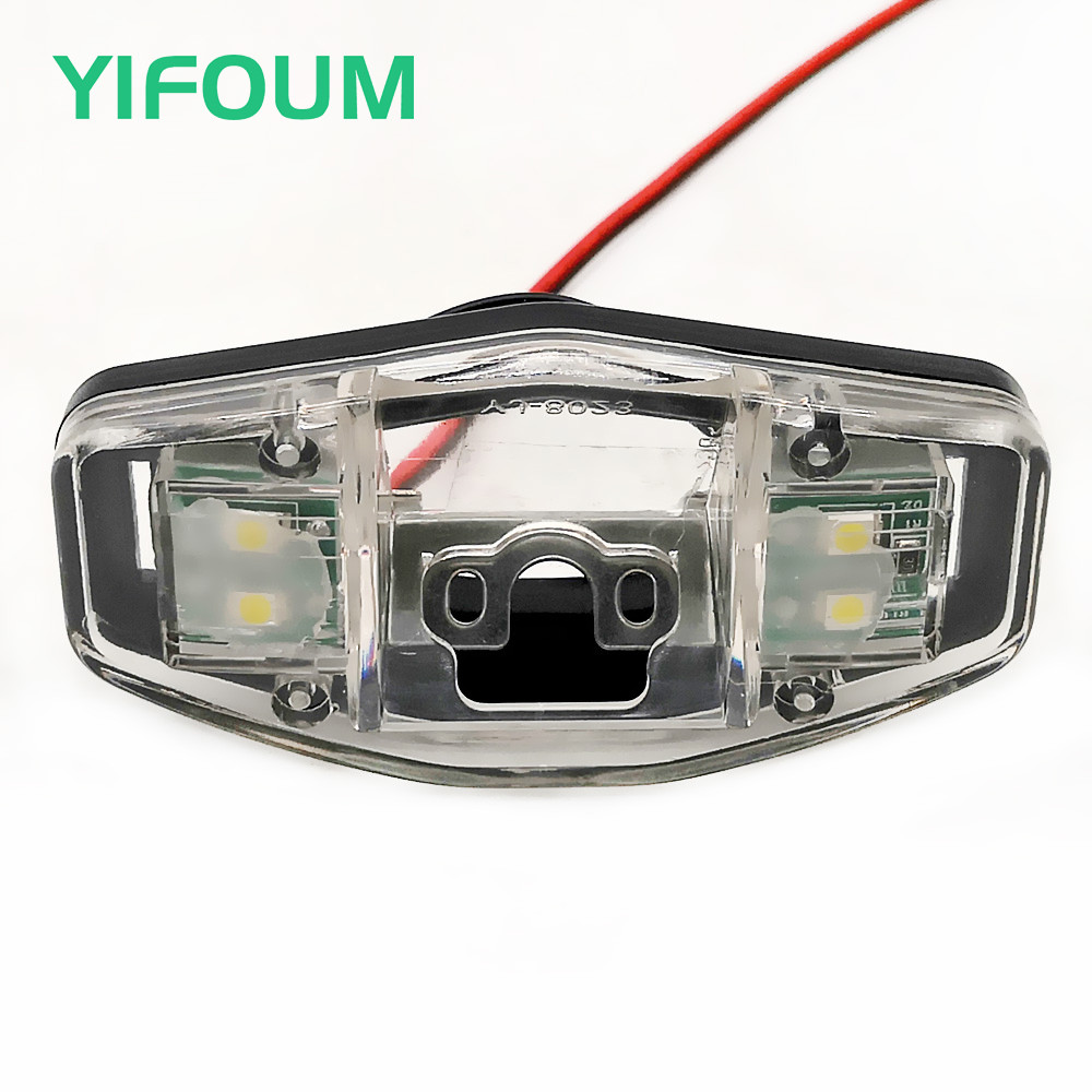 YIFOUM Car Rear View Camera Bracket License Plate Lights Housing Mount For Honda Accord Odyssey Pilot Acura TSX Civic EK FD