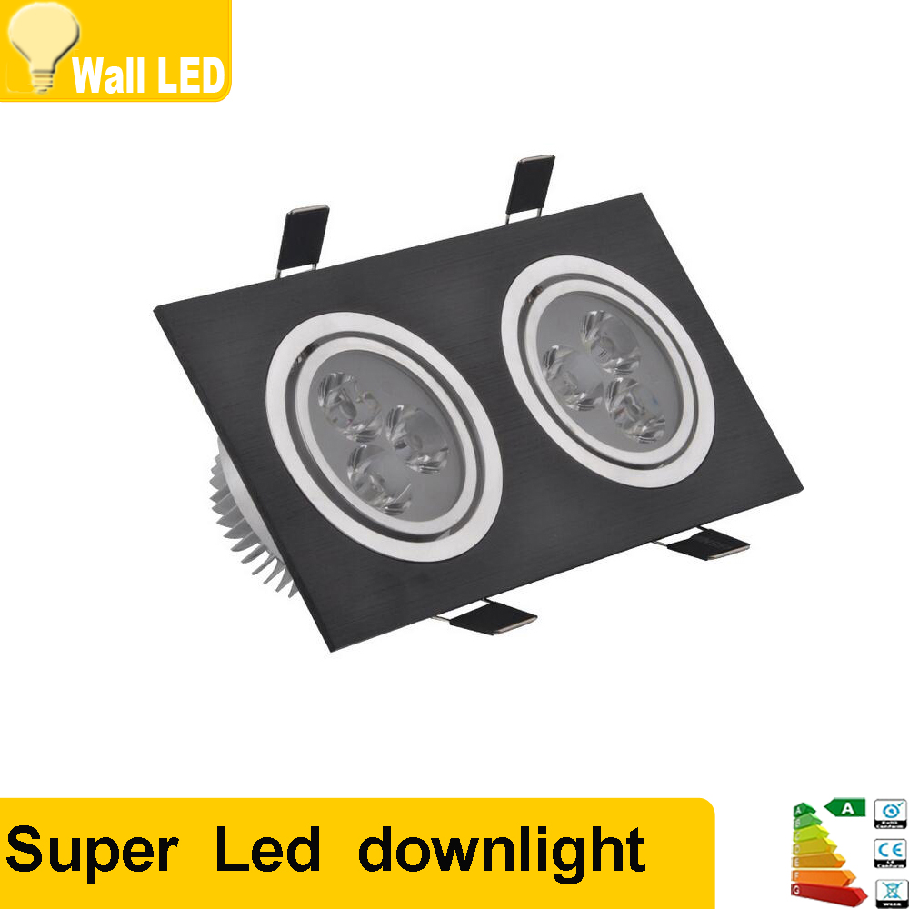 2x Led Under Cabinet Strip Lights 12w Led 12v Driver: 10pcs Square LED Downlight 12W 110v 220v Recessed Led