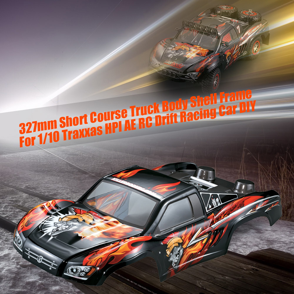 48035 327mm Short Course Truck Finished RC Car Body Shell Frame for 1/10 Traxxas HPI AE RC Drift Racing Car DIY Parts 1 10 scale rc short course truck tire