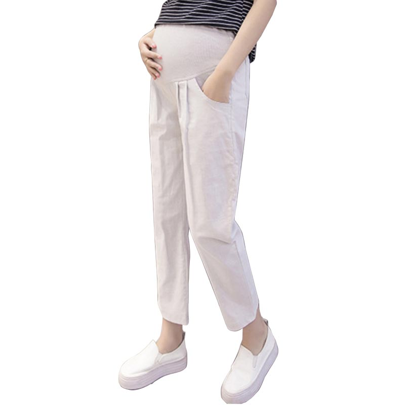 High Waist Linen Cotton Maternity Pants Belly Casual Pants For Pregnant Women Clothes Linen Nursing Pregnancy Trousers Summer High Waist Linen Cotton Maternity Pants Belly Casual Pants For Pregnant Women Clothes Linen Nursing Pregnancy Trousers Summer