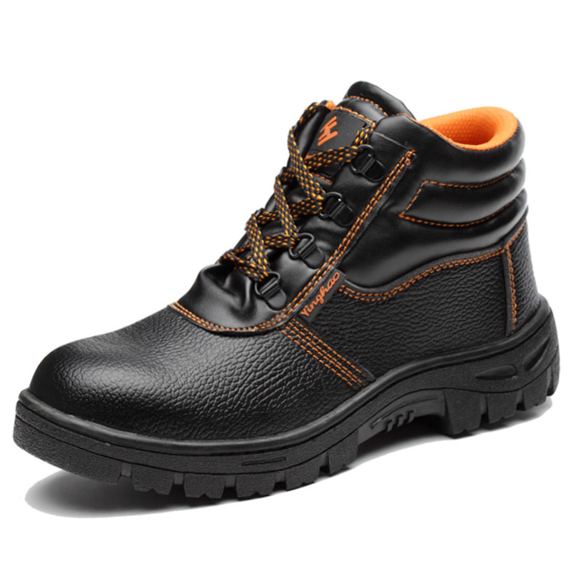 Work Safety Boot Slip-on Men Boots Steel Toe Cap Safety Shoes Men Shoes Anti-piercing Indestructible Shoes High-top Shoes Male