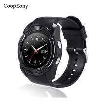 Coopkony Smart Watch Support SIM TF Card Call Sport Bluetooth Smartwatch For IPhone Samsung Android Phone Round Wristwatch