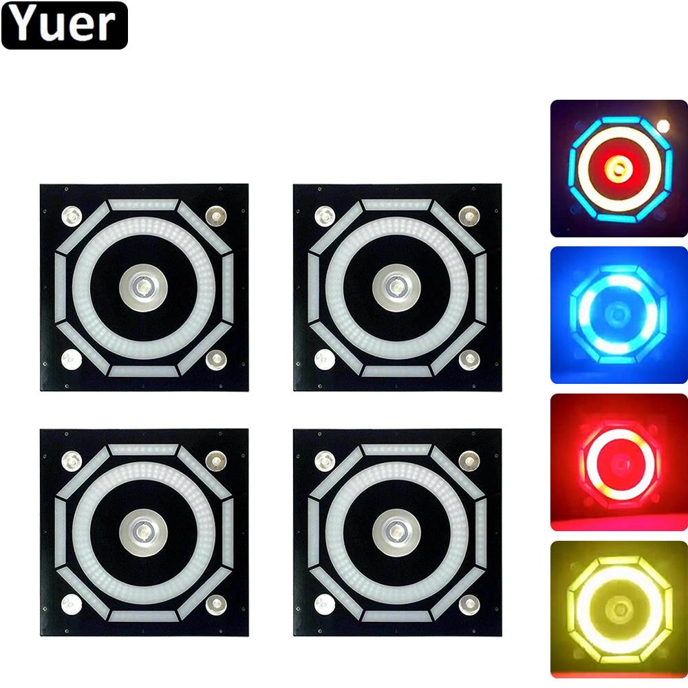 4Pcs/Lot 240 LED Halo Pixels Background Light RGB Music Sound Control Strobe Speed Adjustable For Stage Disco DJ Bar Party Club