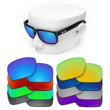 OOWLIT Anti-Scratch Replacement Lenses for-Oakley Holbrook OO9102 Etched Polarized Sunglasses