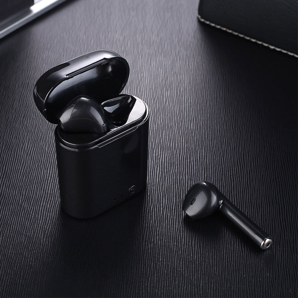 True Wireless Earphone Mini Bluetooth Earbuds Stereo Earplug Sport Headphone I7 TWS Twins Headset With Charger Box For Iphone 6S