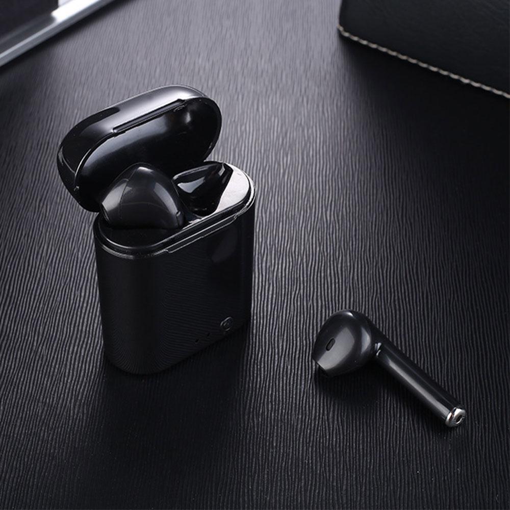 True Wireless Earphone Mini Bluetooth Earbuds Stereo Earplug Sport Headphone I7 TWS Twins Headset With Charger Box For Iphone 6S