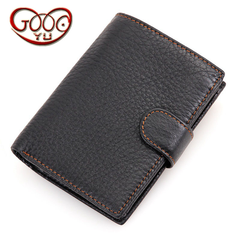 Casual cross section first layer leather multi-card bit man wallet leather open short wallet