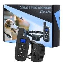 600 м ударный Вибрационный звуковой сигнал перезаряжаемый и водонепроницаемый ошейник для собак пульт дистанционного управления для домашних собак тренировочный ошейник с электрошоком ошейник для собак