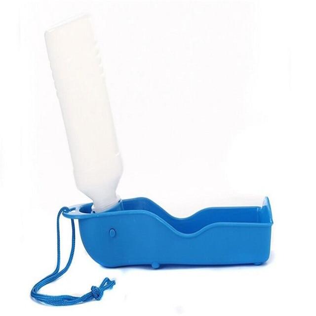 1pcsDog Travel Water Bottle Dispenser Foldable Plastic Dog Cat Drinking Water Feeder Portable Outdoor Pet Puppy Bowl 250ml 500ml 4