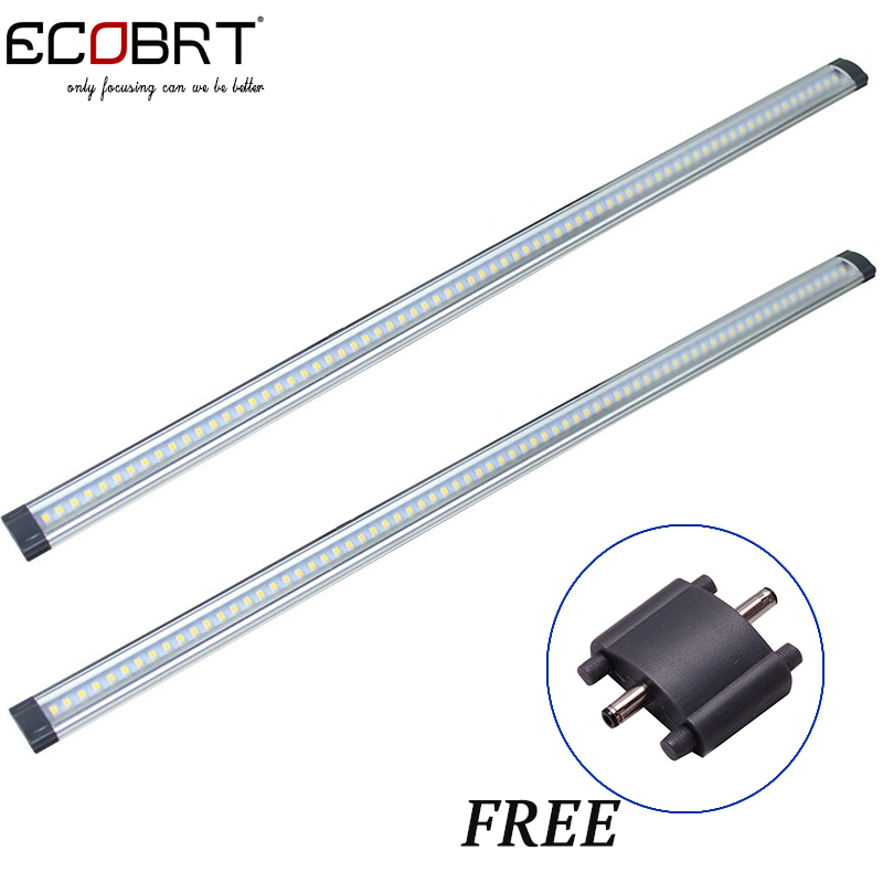 80cm long 9W Kitchen Cabinet Lights 12v Slim Aluminum LED tube lamps Hard Wired Linear Bathroom under Cabinet Lighting 2pcs/lot стоимость