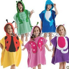 5 видов конструкций детский халат с капюшоном/детское полотенце/модель ing полотенца с фигурками животных/детский банный халат/детское банное полотенце