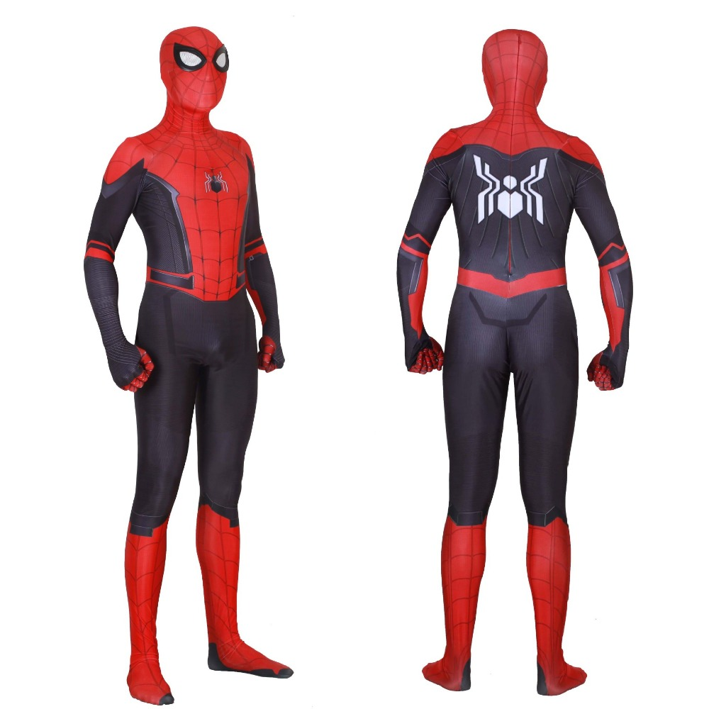 Free shipping Adult and child Marvel Movie Game SpiderMan Hero Expedition Cosplay zentai 3D digital printing costume JQ-1313