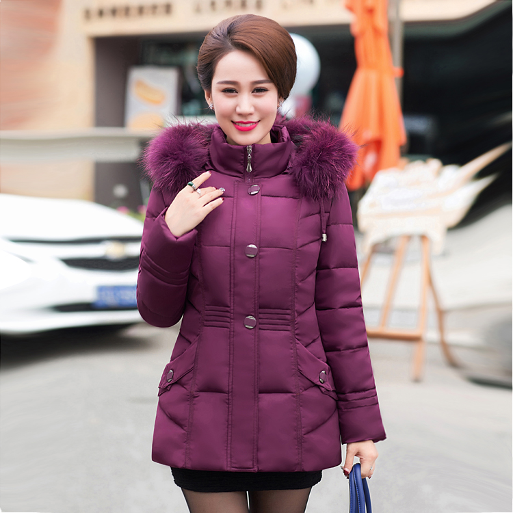 2017 In the elderly down jacket women old woman fat old grandmother to increase fat in elderly women down jacket the woman in the photo
