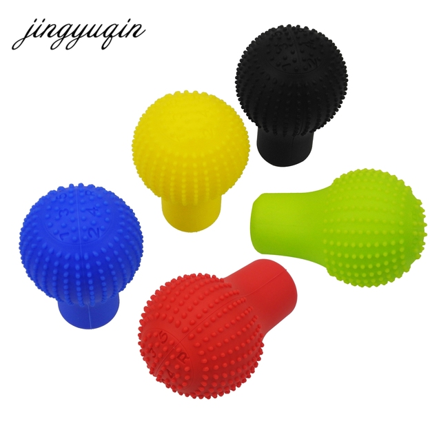 jingyuqin Universal Car Gear Shift Collars Silicone Floating-point Antiskid Roundness Dustproof Protective Lever Knob Cover