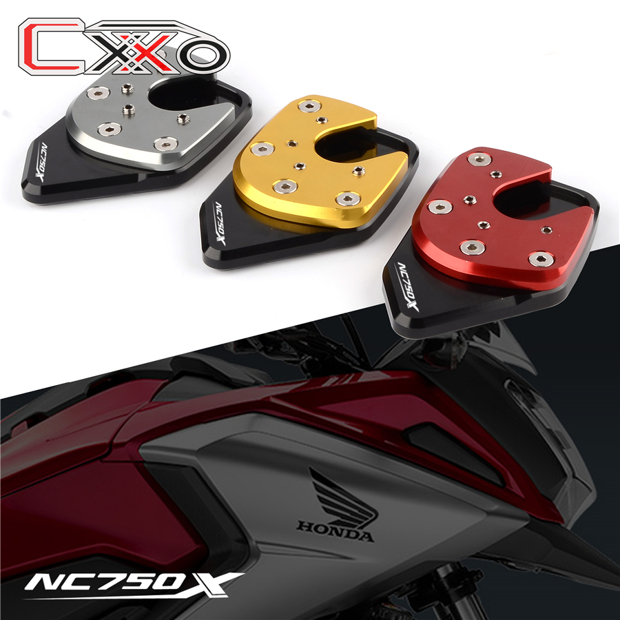 For HONDA NC750X NC 750X NC750 X 2017 2018 Aluminum Kickstand Sidestand Stand Extension Enlarger Pad Accessories