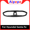 Для Hyundai Santa Fe 2019 2020 углеродное волокно центральный контроль салона автомобиля декоративная накладка для вентиляционного отверстия кондици...