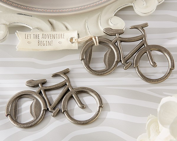 """DHL wedding favor gift and giveaways   """"Let's Go On an Adventure"""" Bicycle Bottle Opener party favor souvenir 100pcs/lot-in Openers from Home & Garden    1"""