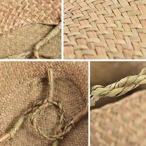 Image 5 - Rieten Manden Voor Planten Opvouwbare Natuurlijke Geweven Zeegras Buik Opslag Mand Rieten Rotan Manden Bloempotten Wasmand