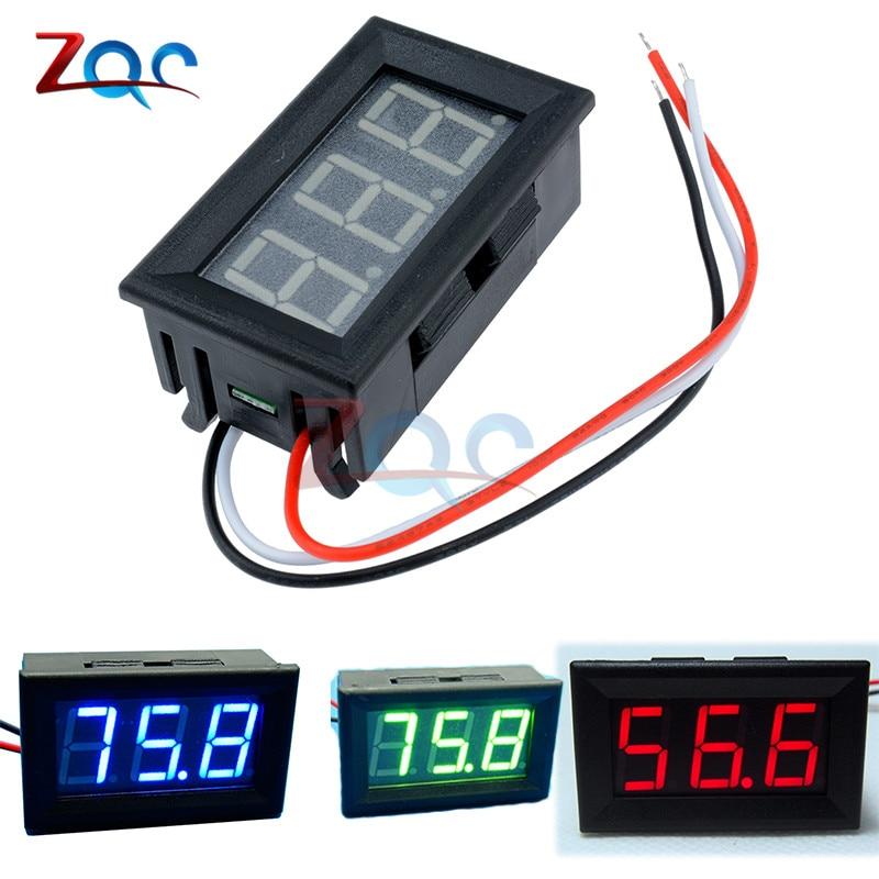 Mini LED Digital DC 0-100V Voltmeter Gauge Voltage Volt Fahrzeuge Panel Meter Red/Blue/Green dual red blue led digital voltmeter ammeter panel volt gauge meter