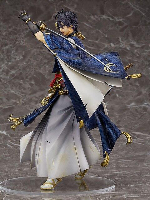 22cm Japanese Anime Figure of Touken Ranbu Online Mikazuki Munechika PVC Action Figure Model no retial box (Chinese Version) 1