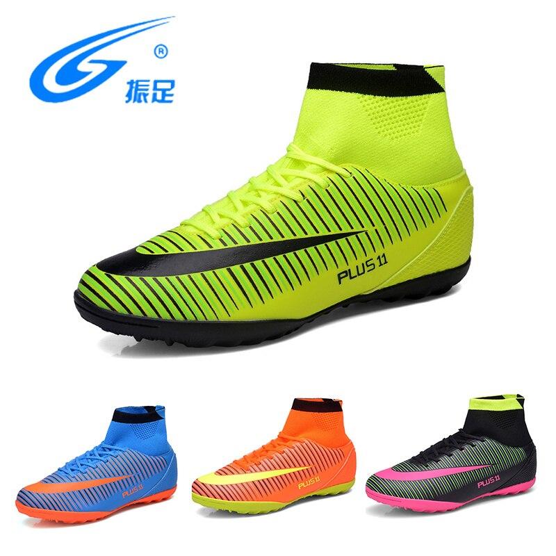 3a22f6898e ZHENZU FUTEBOL SAPATOS Fechados SAPATOS de Futsal Futebol Botas Sapatilhas  Homens Baratos Chuteiras de futebol Originais