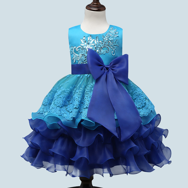 New Girls Princess Sequined Embroidered Sleeveless Frock Dress Cute Kids Clothes Knee-Length Infantil Ball Gown DressesNew Girls Princess Sequined Embroidered Sleeveless Frock Dress Cute Kids Clothes Knee-Length Infantil Ball Gown Dresses