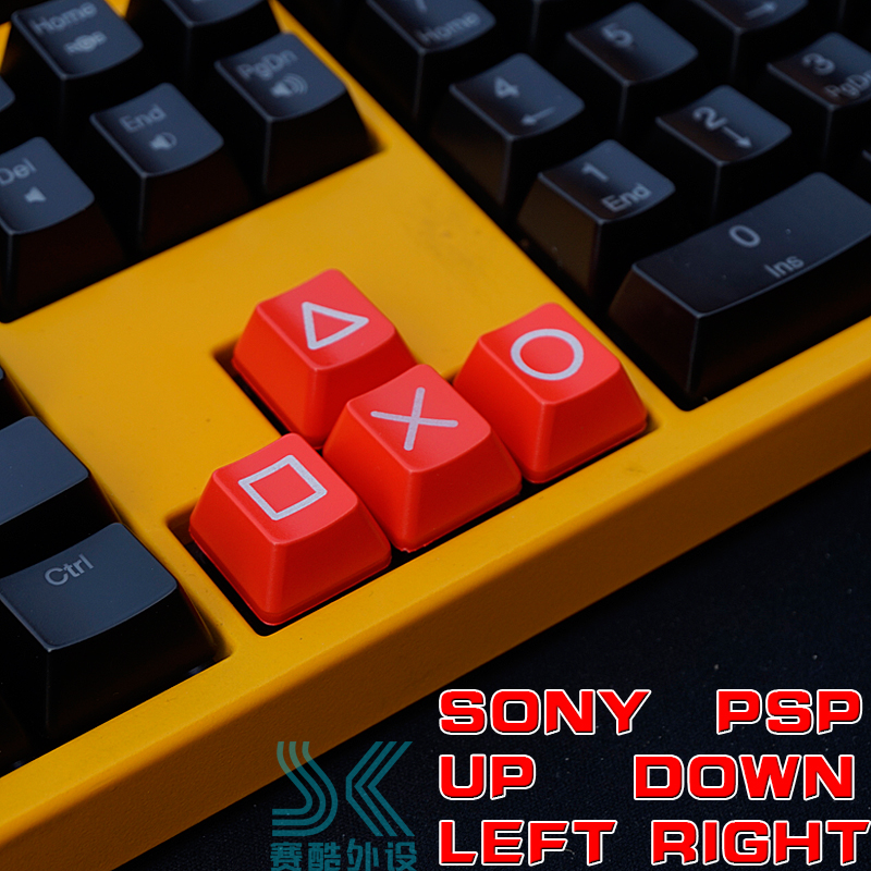 Mechanical Keyboard ABS Pervious To Light Keycap Direction Key Up And Down Left Right Cherry Mx Arrow Keys OEM PSP Red Black