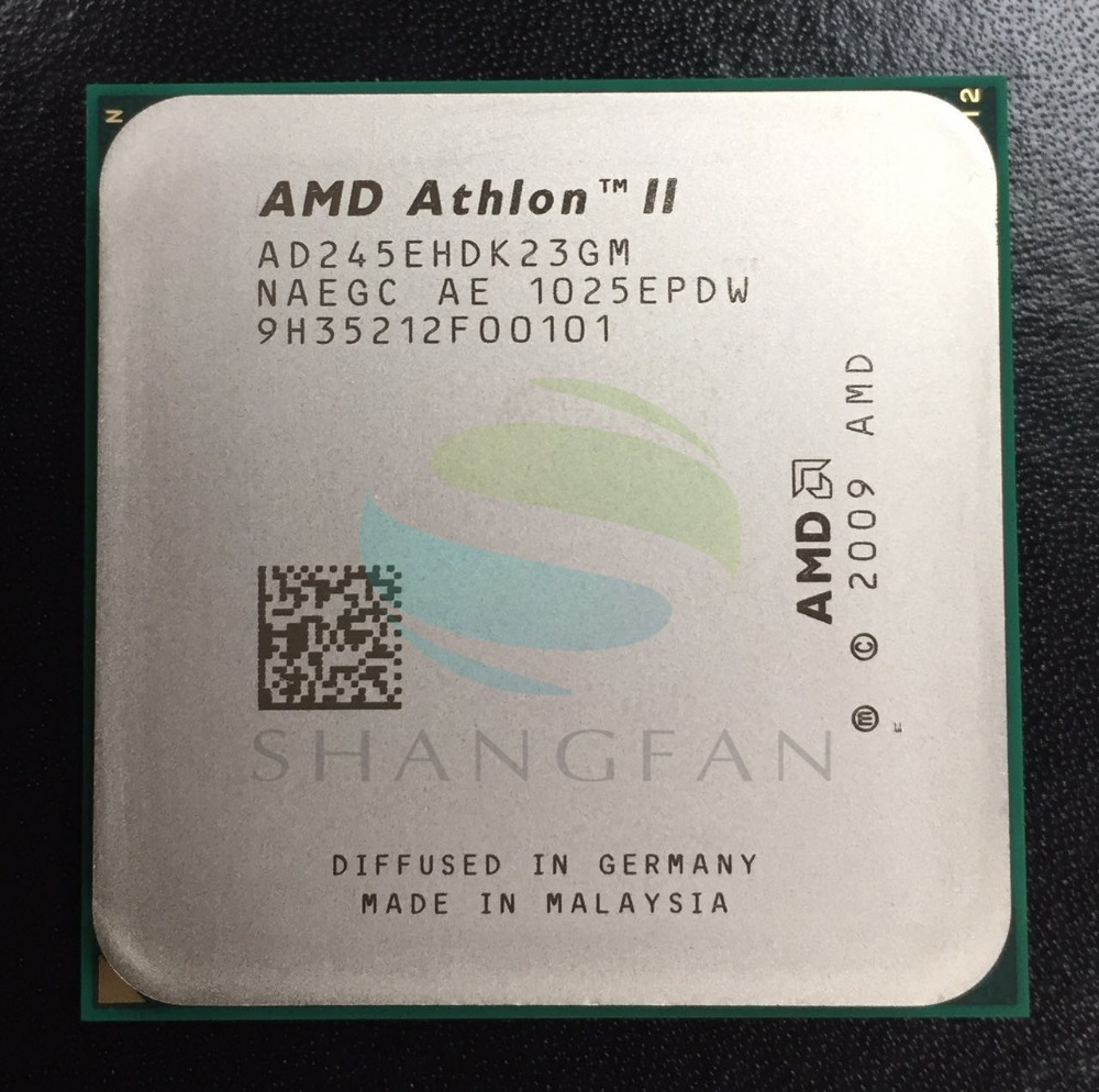 Free Shipping For AMD Athlon X2 245e 2.9GHz Dual-Core CPU Processor ADX245EHDK23GM Socket AM3 938pin