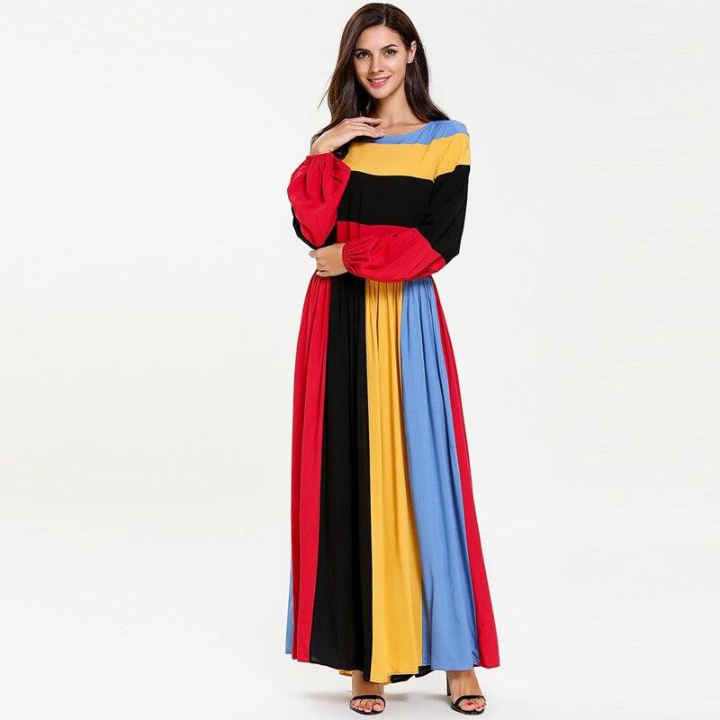 Colored Abaya Robe Caftan Dubai Turkey Kaftan Muslim Hijab