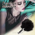 Latest Short Flirting Feather Red Spanking Sex Toy Feather Anal plug with black feather Erotic Toys Flirt for Couples