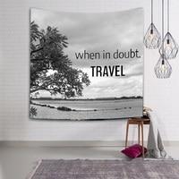 Simple Tapestry Blue Gray Tenture Murale Mandala Blanket Tapestry Wall Hanging tapestry Nordic hanging Beach Towel toalla playa
