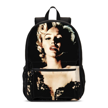 Fashion Marilyn Monroe Print School Bag School Backpack For Teenager Girls Student Children Backpack Mochilas Escolares Feminina marilyn manson rock band school bag noctilucous backpack student school bag notebook backpack daily backpack
