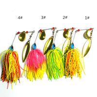 Metal Sequin Fishing Lure 4Colors 17g Spinner Bait Hook Artificial Wobbler Fresh Water Shaltwater Bass Walleye Crappie Minnow