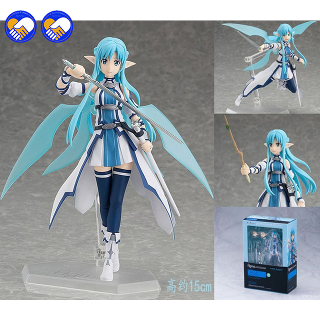 A toy A dream Anime Sword Art Online Figma 264 Yuuki Asuna Undine Special PVC Action Figure Collectible Model Toy 15cm