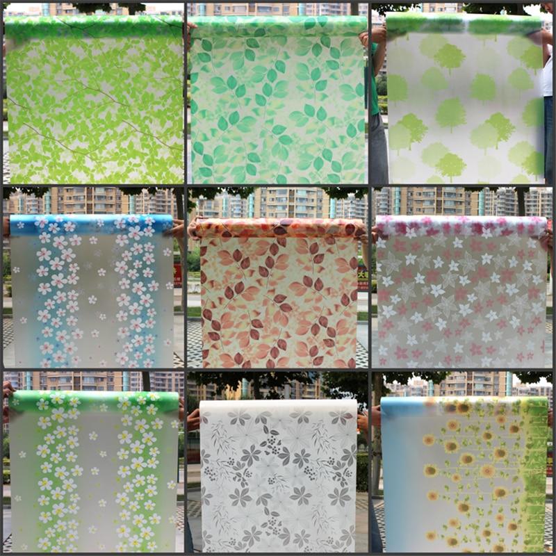 80 * 200cm samolepljivo okno brusi papir mat mat nalepke kopalnica - Dekor za dom