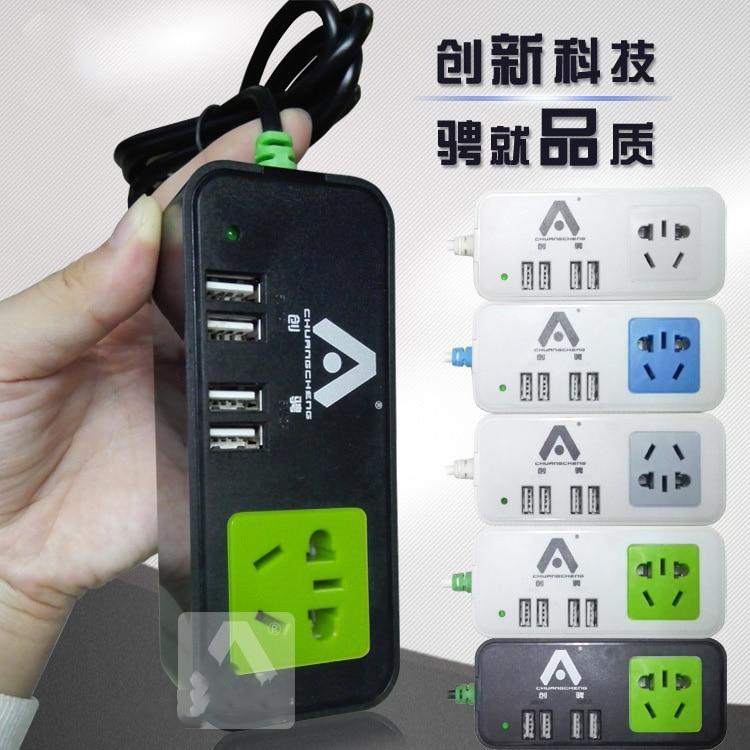 US Plug 4 Port USB travel Wall Charger DC 5V 3 6A font b Smart b