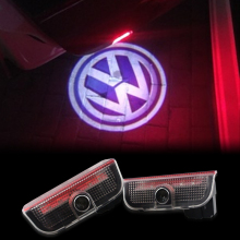 2X LED Car Door Light Welcome 3D Shadow Logo Projector For VW Passat B6 B7 CC Golf 6 7 Jetta MK5 MK6 Tiguan Scirocco