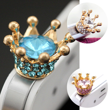 цена на Marsnaska 3.5mm Crown Diamond Universal Anti-Dust Plug Phone Anti Dust Plug For iPhone Samsung Audio Earphone Headphone Plug